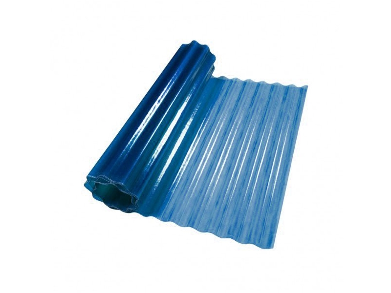 Ardezie poliester ondulata albastru GGP 1 m*40m