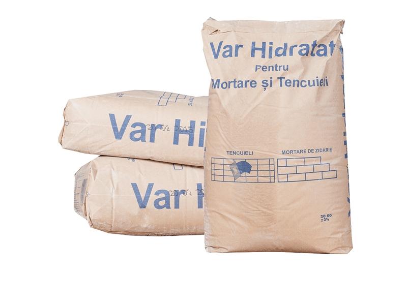 Var tehnic hidratat Carmeuse 20 kg 60 saci/pal ( p-u mortare si tencuieli )