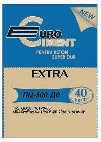 Ciment 42.5 (M500 EuroCiment D20) 40 kg (40 saci/palet)