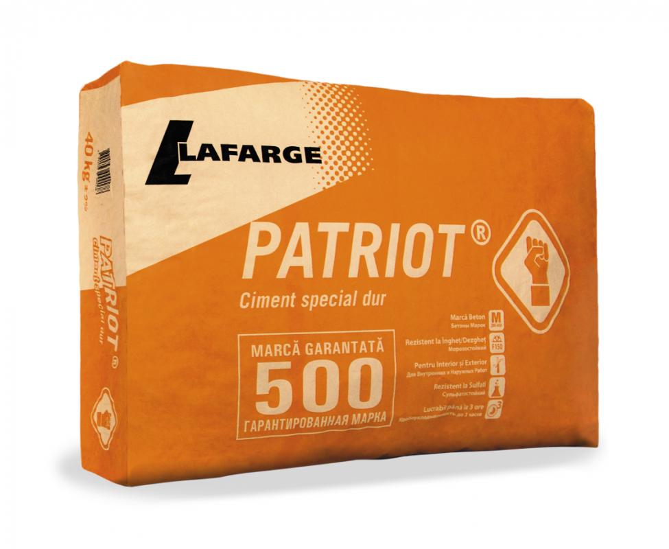 Ciment 42.5 (M500 Patriot) 40 kg (40 saci/palet)