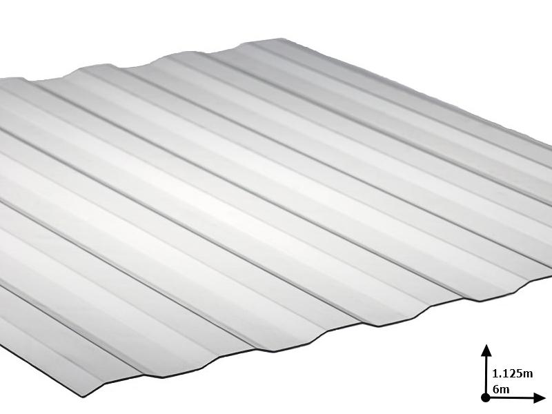 Ardezie PVC Ondex transparent 6.0*1.125 m Plat (72/5)