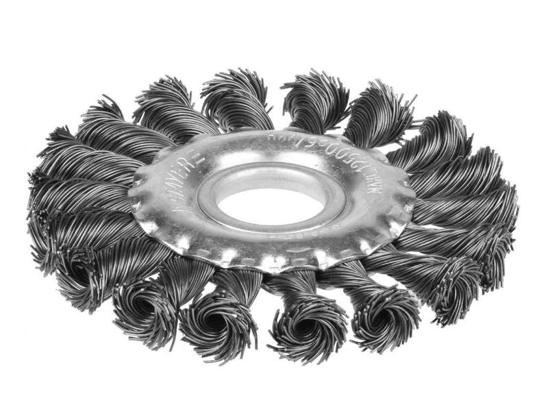 Perie plata de sirma impletita p/u polizor 125 mm