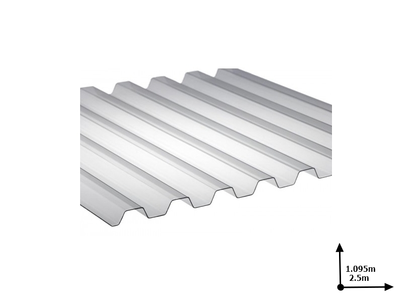 Ardezie PVC Ondex ECO translucid natural 2.5*1.095 m trapezoid
