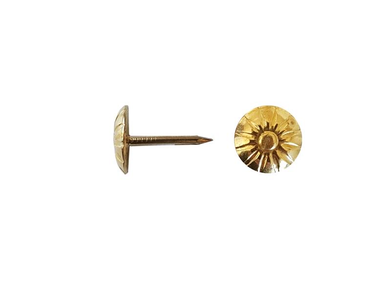 Cui decorativ tapiterie 1.3x11/16.5 mm flower auriu 100buc