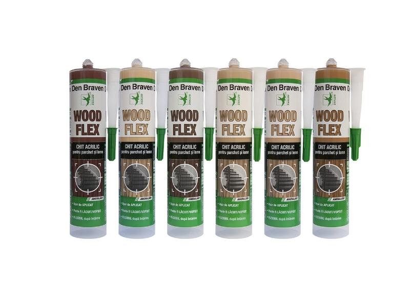 Chit acrilic parchet woodflex stejar 280 ml