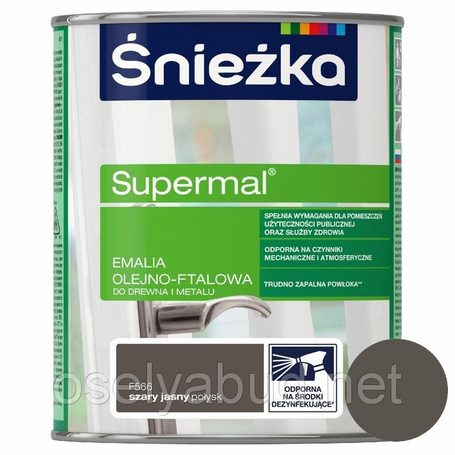 Supermal Sniezka Gri Deschis 0.8 l F566