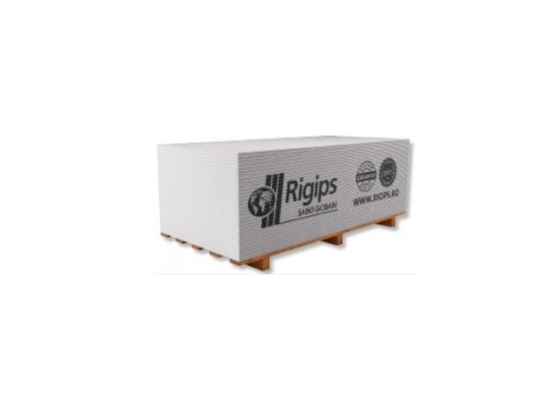 Gipscarton Rigips 12.5 mm p/u perete (1 pal=50 foi )(1 buc=25,2 kg)