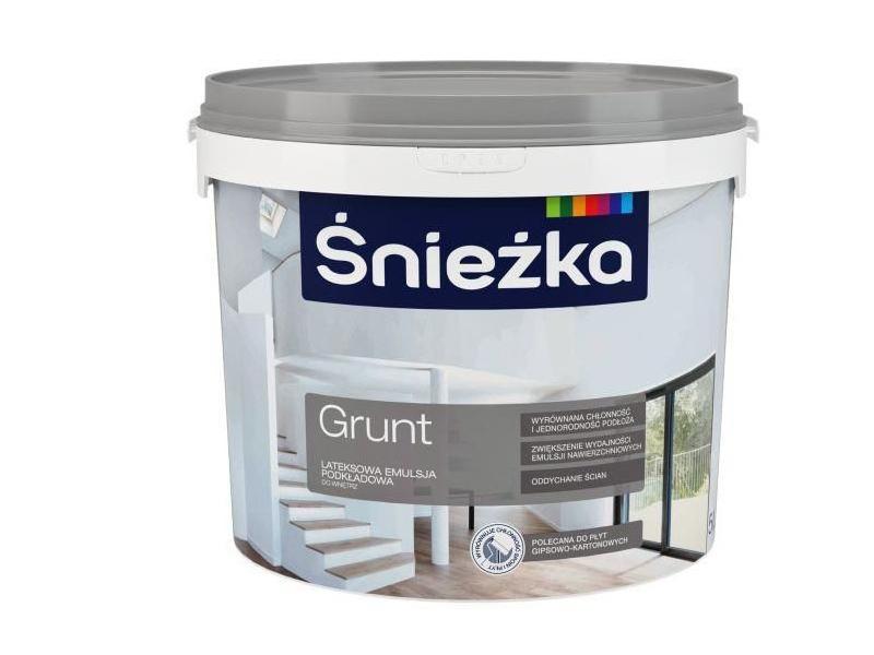 Amorsa grund vopsea de latex alb interior SNIEZKA 5 L