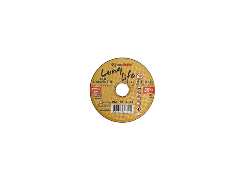 Disc 125*1.0*22.23 WA54 S BF 80 2 inox (galbene) Luga