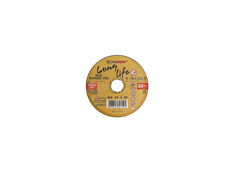 Disc 125*2.0*22.23 WA36 S BF 80 2 inox (galbene) Luga
