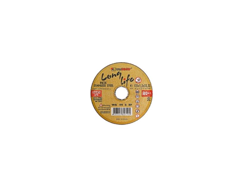 Disc 150*1.6*22.23 WA40 S BF 80 2 inox (galbene) Luga