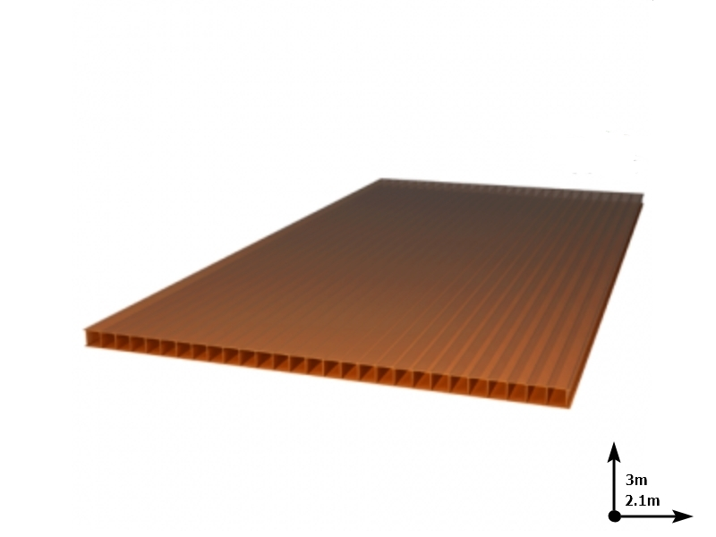 Policarbonat POLYNEX 6 mm Bronz (3.0m*2,1m) 15 ani/gar