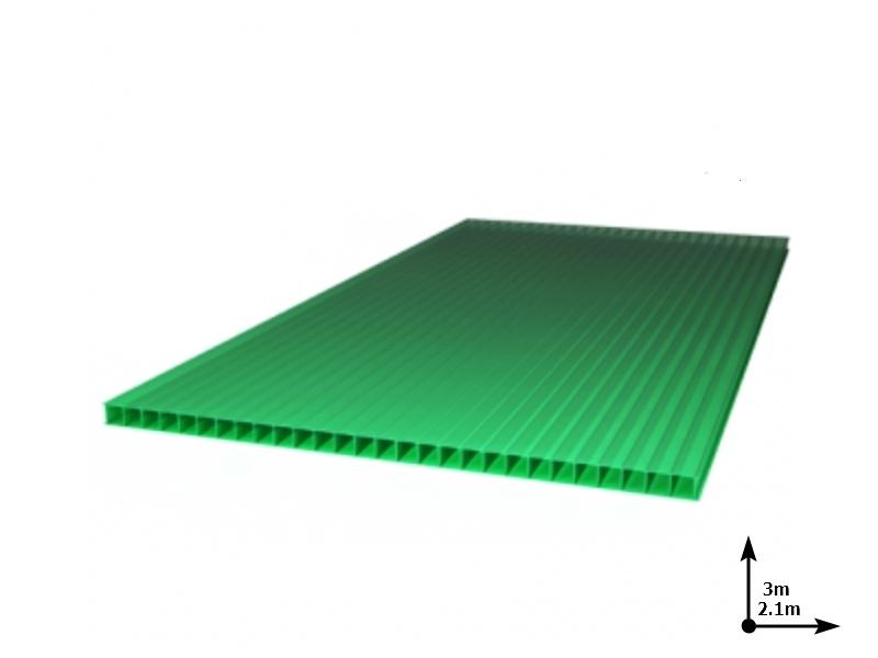 Policarbonat SUNNEX 4 mm Verde (3.0m*2,1m) 12 ani/gar