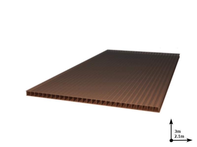 Policarbonat SUNNEX 6 mm Bronz-sur (3.0m*2,1m) 12 ani/gar