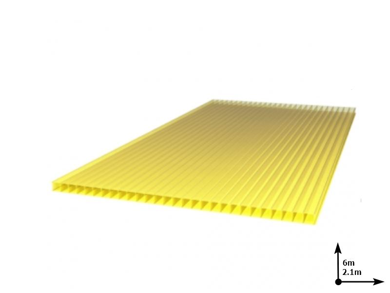 Policarbonat SUNNEX 6 mm Galben (6.0m*2,1m) 12 ani/gar