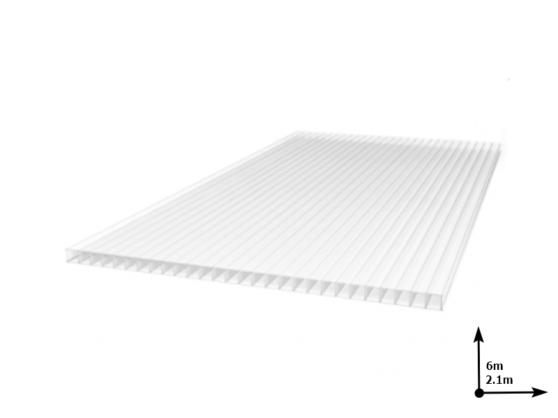 Policarbonat SUNNEX 6 mm Transparent (6.0m*2,1m) 12 ani/gar