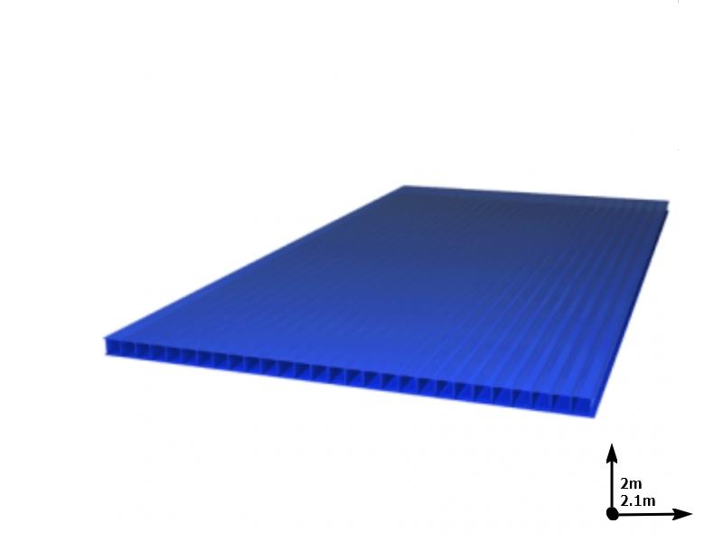 Policarbonat SUNNEX 6 mm Albastru (2.0m*2,1m) 12 ani/gar