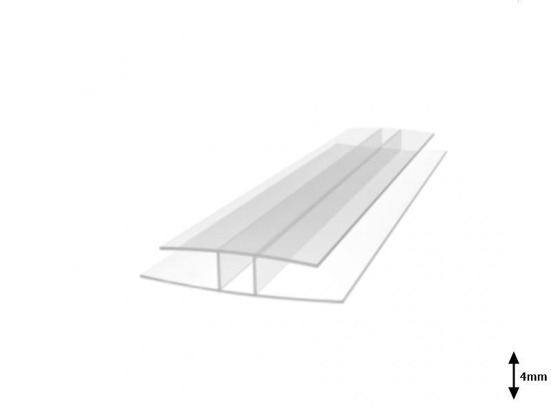 Profil H 4 mm imbinare 6 m Transparent