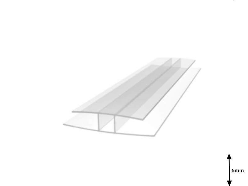 Profil H 6 mm imbinare 6 m Transparent