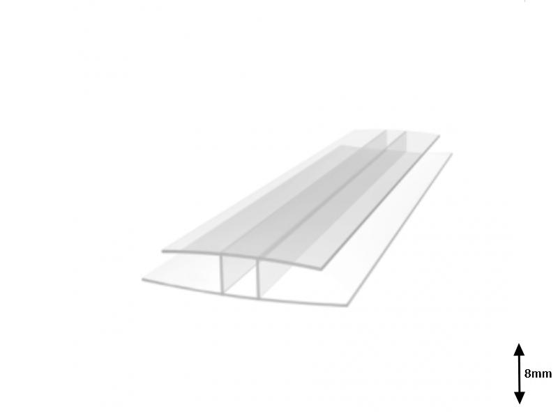 Profil H 8 mm imbinare 6 m Transparent