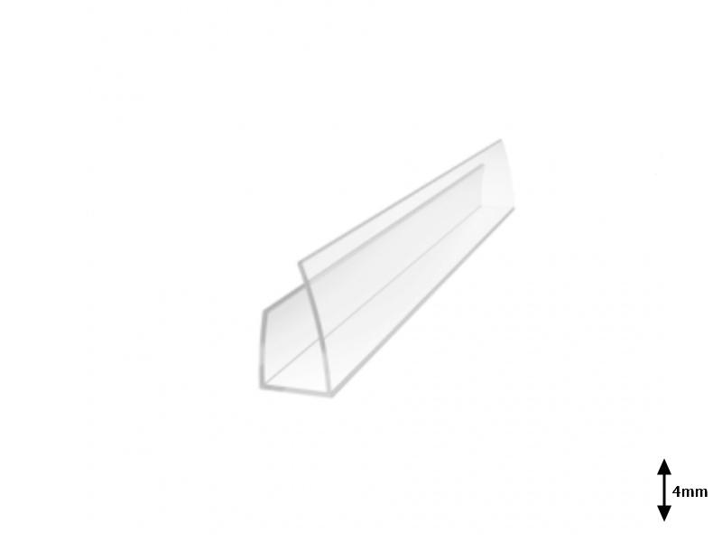 Profil U 4 mm lateral 2.1 m Transparent
