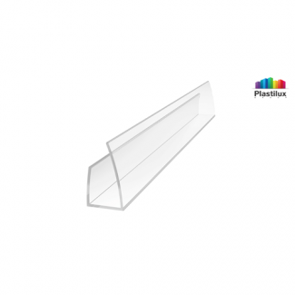 Profil U 4 mm lateral 2.1 m Transparent