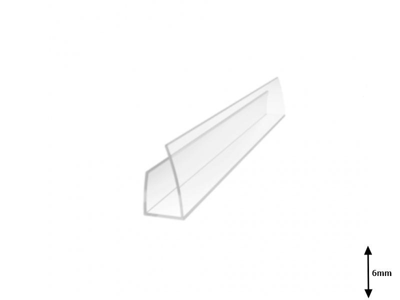 Profil U 6 mm lateral 2.1 m Transparent