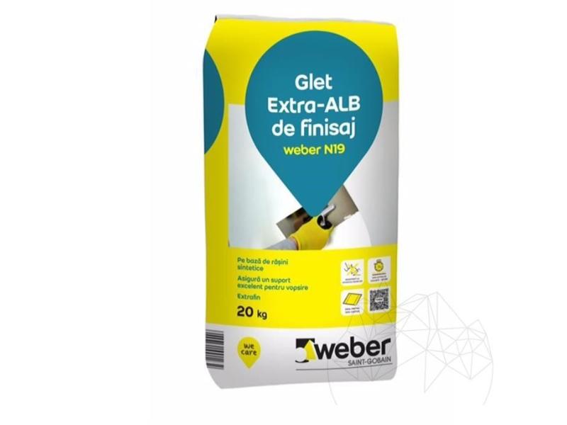 .Weber N 19 20 kg glet alb finisare (nu pe gipscarton)