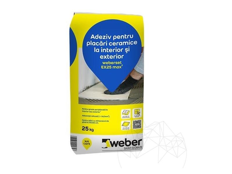 .Weber EX 25 kg (48/pal) adeziv terac. inter/exter