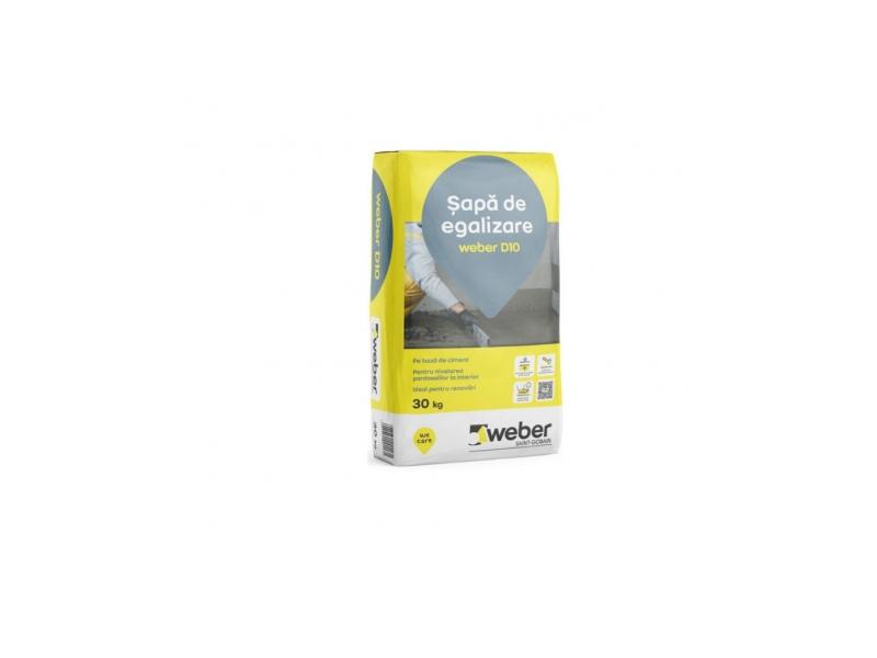 .Amestec p/u podea Weber D10 20-50mm 30 kg (1 pal=42 sac)