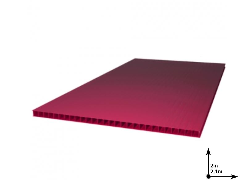 Policarbonat SUNNEX 6 mm Granat (2.0m*2,1m) 12 ani/gar
