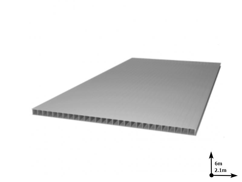 Policarbonat SUNNEX 6 mm Argintiu (6.0m*2,1m) 12 ani/gar
