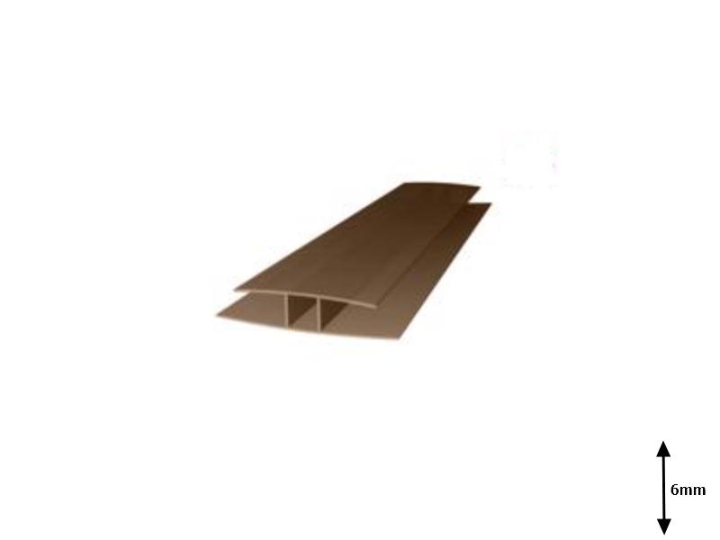 Profil H 6 mm imbinare 6 m Bronz-sur