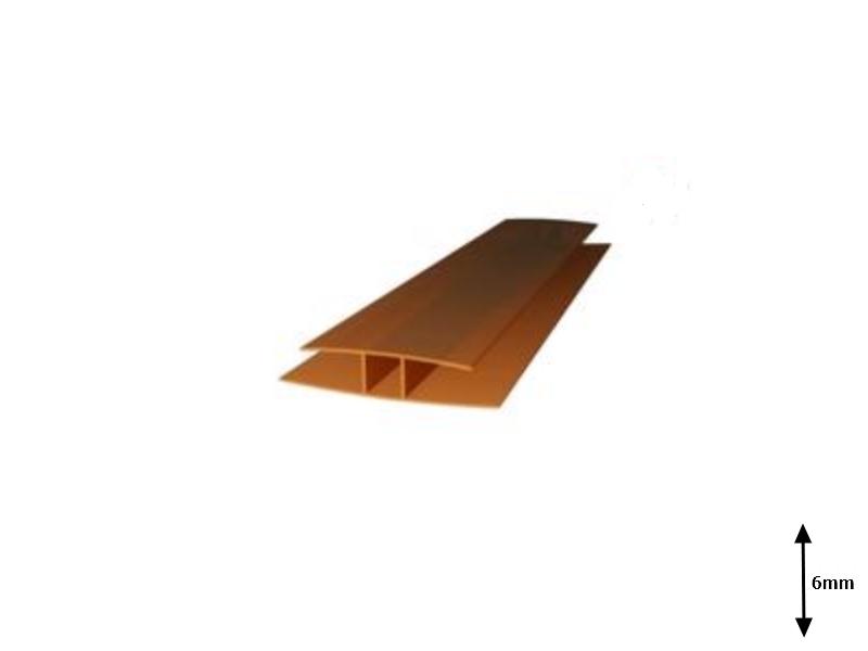 Profil H 6 mm imbinare 6 m Bronz