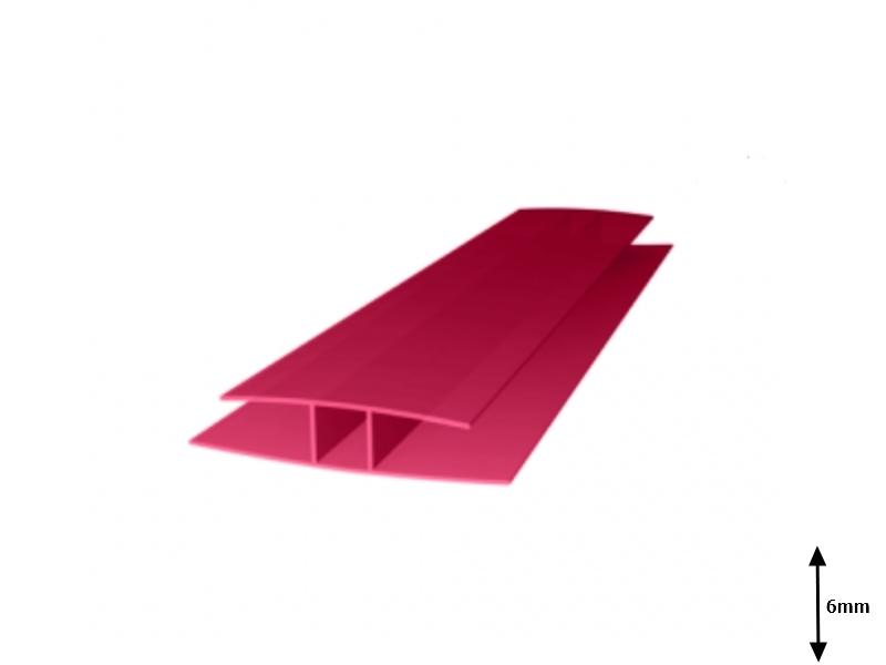 Profil H 6 mm imbinare 6 m Granat