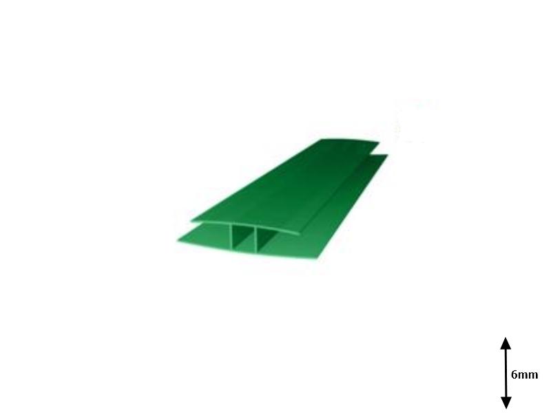 Profil H 6 mm imbinare 6 m Verde