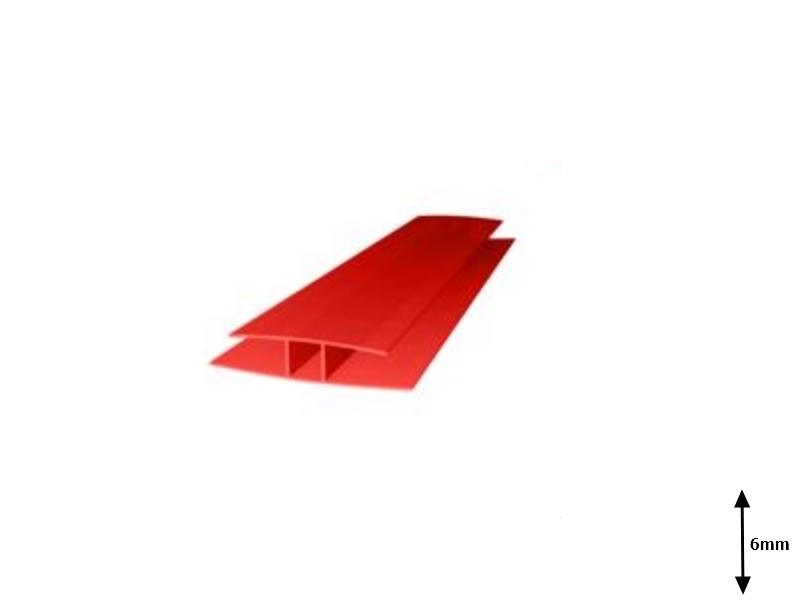 Profil H 6 mm imbinare 6 m Rosu
