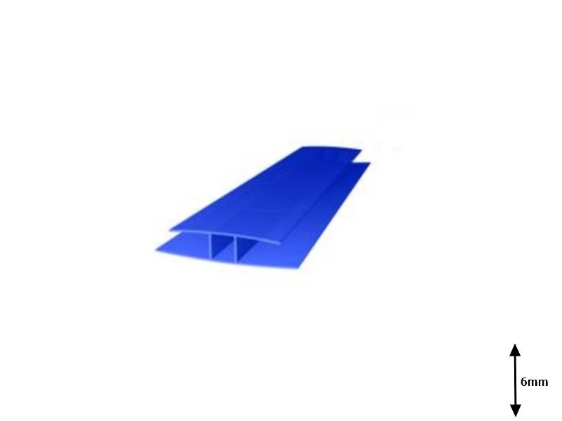 Profil H 6 mm imbinare 6 m Albastru
