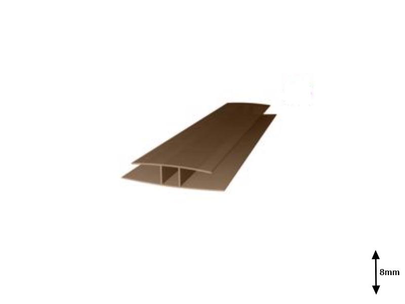 Profil H 8 mm imbinare 6 m Bronz-sur
