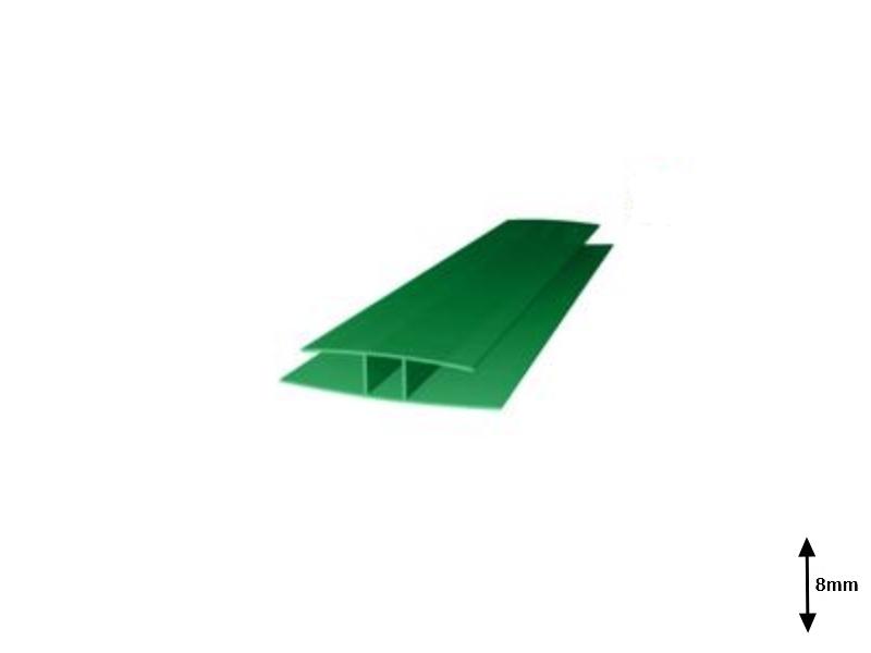 Profil H 8 mm imbinare 6 m Verde