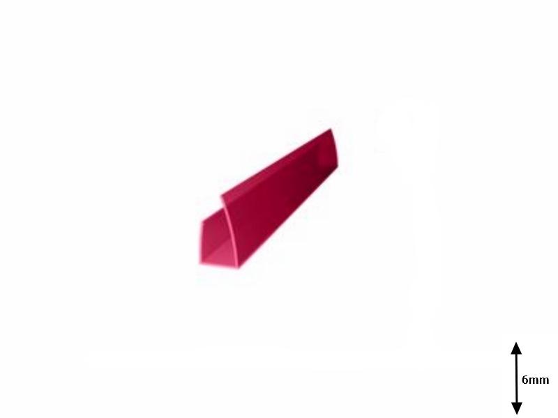 Profil U 6 mm lateral 2.1 m Granat