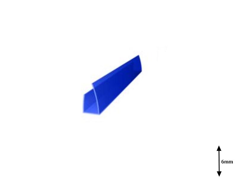 Profil U 6 mm lateral 2.1 m Albastru