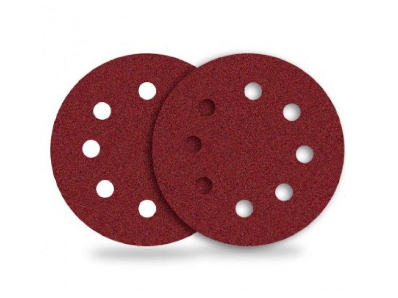 Fibro disc abraziv cu 8 gauri LUGA DK 125 mm A 240
