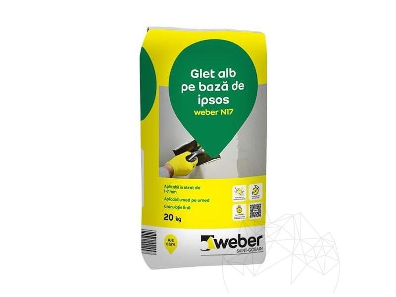 .Weber N 17 20 kg glet alb finisare (nu pe gipscarton)