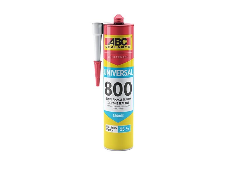 SILICON Exterior NEGRU ABC 800/280 ml