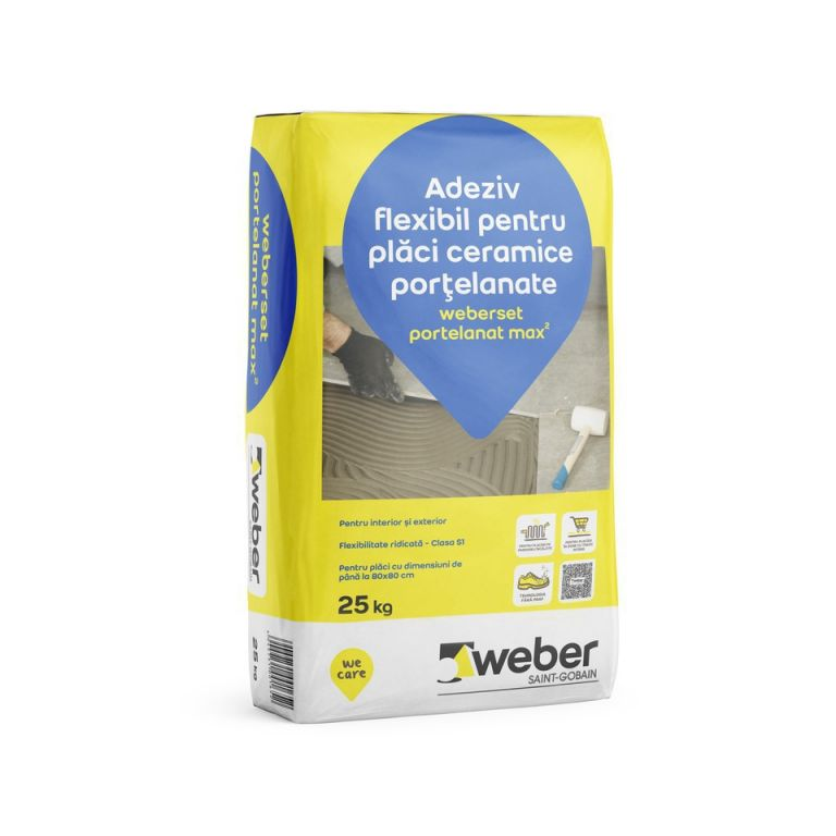 .Weber max2 adeziv gri pt portelanat si podele calde int/ext