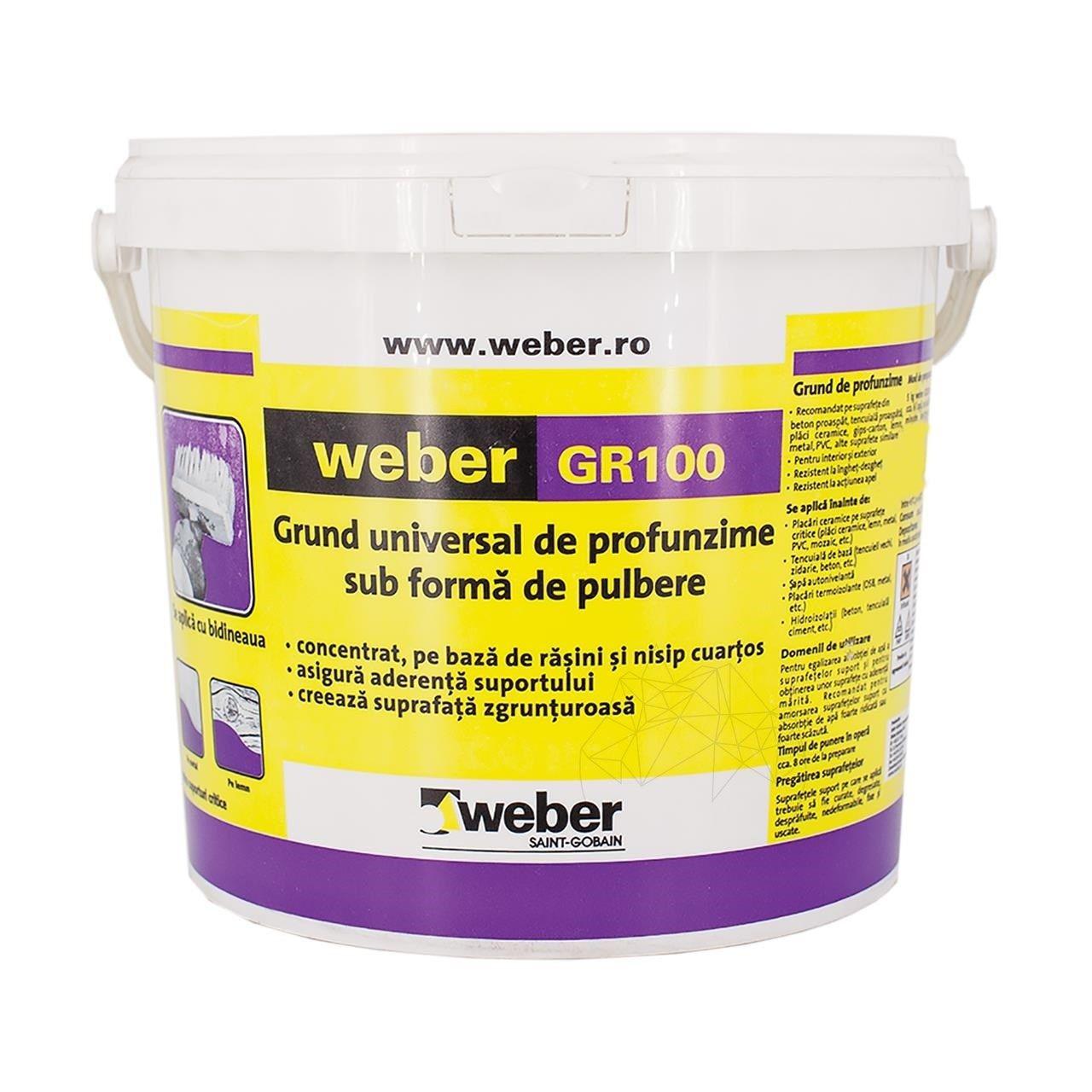 .Amorsa grund uscat cu cuart Betoncontakt Weber GR 100 5kg /gal