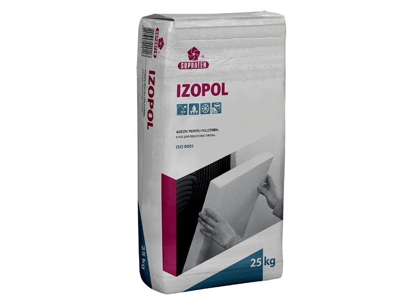 Izopol 25 kg ( 1pal =80 sac) adeziv vata minerala+ polistirol