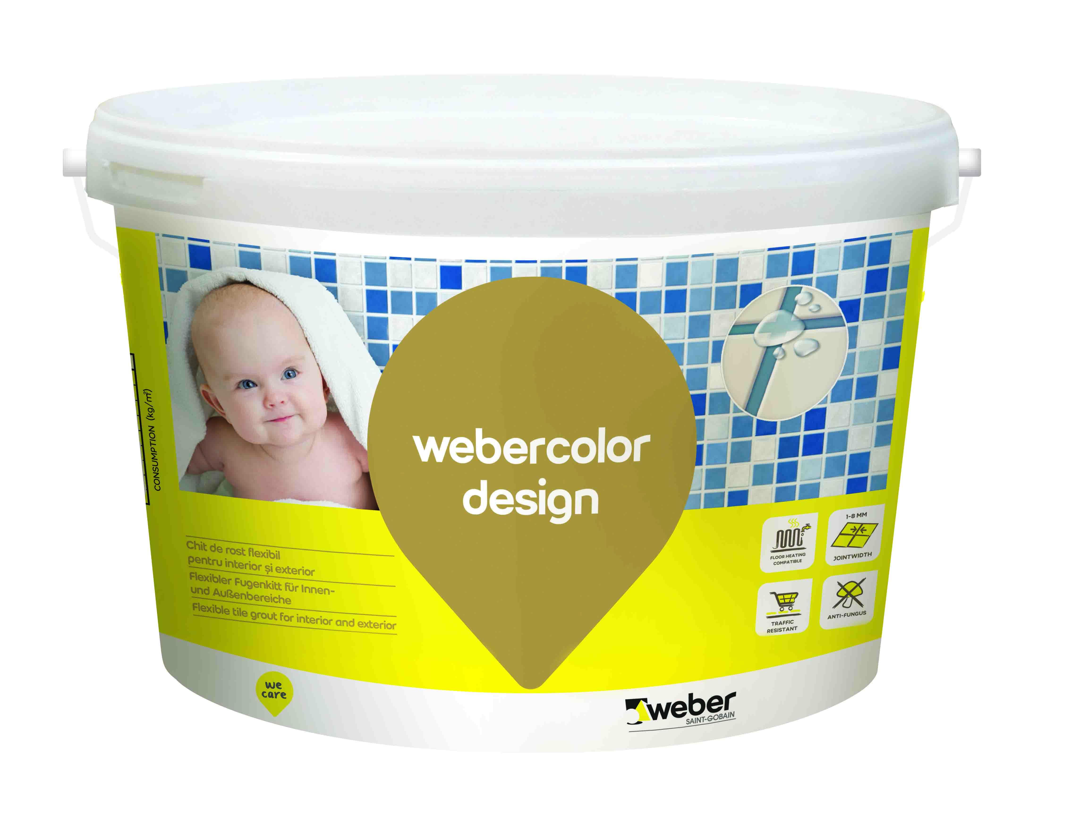 Chit pt rosturi Fuga Weber design alb 5 kg W011