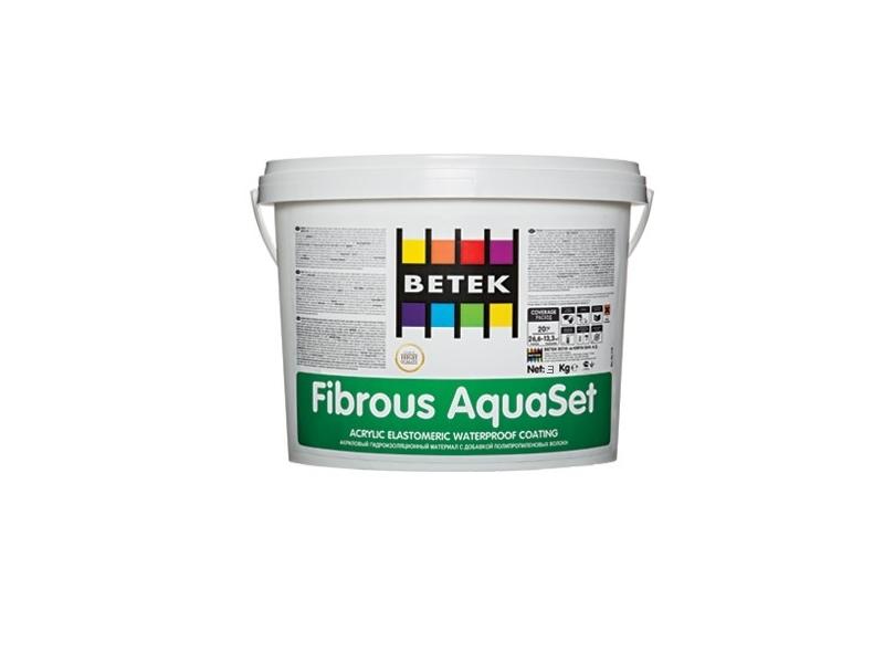 Betek Fibrous Aquaset 3 kg hidroizolatie lichida cu fibra